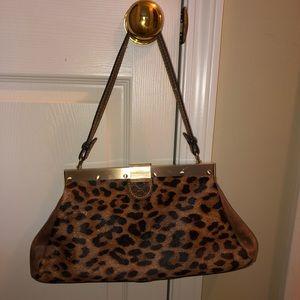Patricia Nash cheetah print/brown leather purse